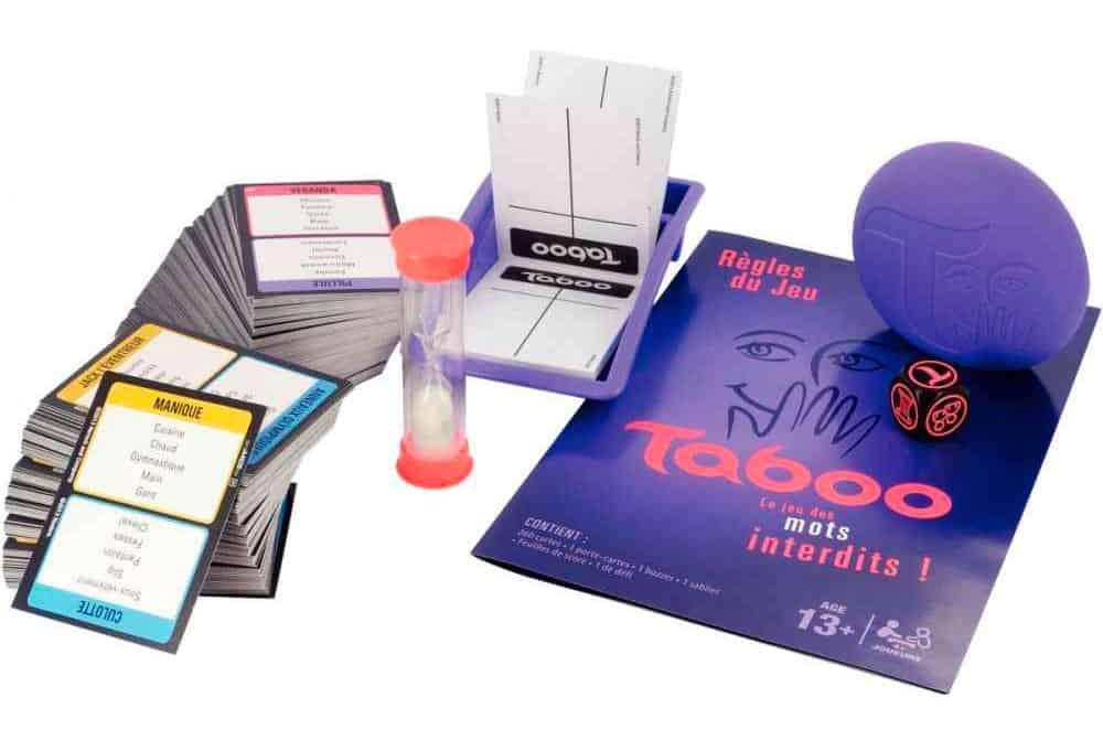 les accessoires du jeu taboo