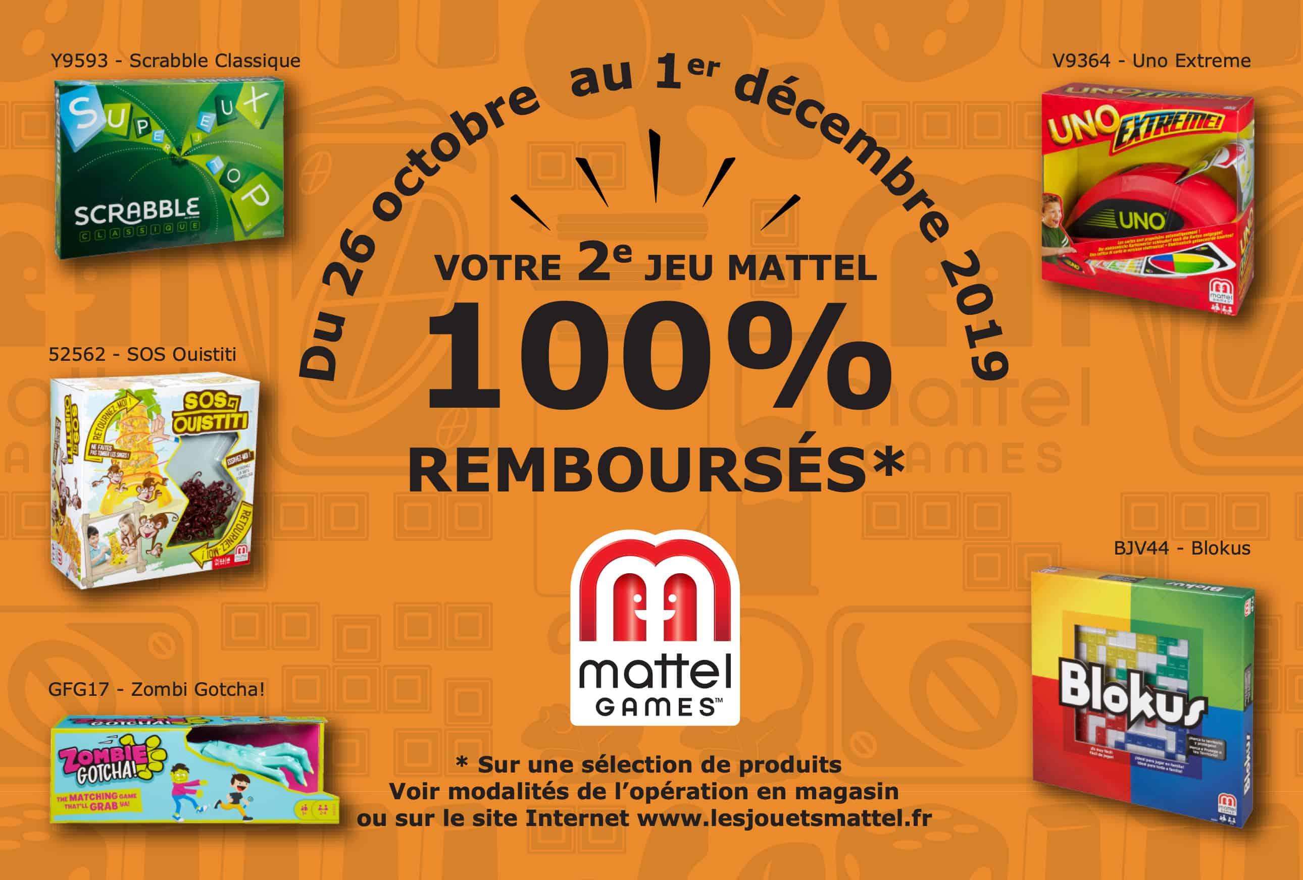 Votre 2ème Jeu Mattel games 100% remboursé
