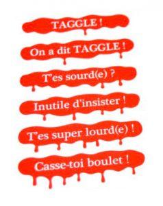 La carte Taggle