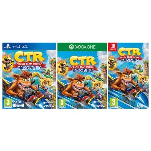 Les boites de Crash Team Racing Nitro-Fueled