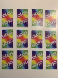 Le placement des cartes au début de la partie de Skyjo